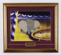 "Walt Disney's ""Dumbo"" 17x19 Custom Framed (2) Piece Animation Serigraph Cel with Disney Seal at PristineAuction.com"