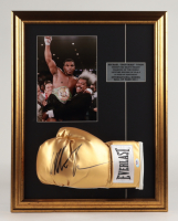 """""""Iron"""" Mike Tyson Signed 18x23 Custom Framed Everlast Boxing Glove Display (PSA COA) at PristineAuction.com"""