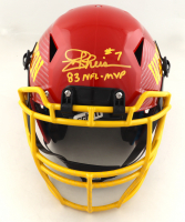 """Joe Theismann Signed Full-Size Authentic On-Field Hydro-Dipped Vengeance Helmet Inscribed """"83 NFL MVP"""" (JSA COA) at PristineAuction.com"""