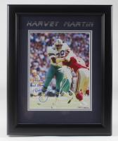 """Harvey Martin Signed Cowboys 13.5x16.5 Framed Photo Inscribed """"To Frank God Bless"""" (JSA Hologram) at PristineAuction.com"""