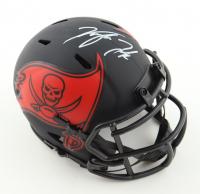 Kyle Trask Signed Buccaneers Eclipse Alternate Speed Mini Helmet (Fanatics Hologram) at PristineAuction.com