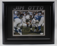 "Jim Otto Signed Raiders 13.5x16.5 Framed Photo Inscribed ""00"" & ""H.O.F. 1980"" (JSA COA) (See Description) at PristineAuction.com"