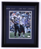 "Bob Lilly & Lee Roy Jordan Signed Cowboys 13.5x16.5 Framed Photo Inscribed ""ROH '75"" & ""ROH '89"" (JSA COA) (See Description) at PristineAuction.com"