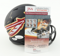 Dalvin Cook Signed Florida State Seminoles AMP Alternate Speed Mini Helmet (JSA COA & Cook Hologram) at PristineAuction.com