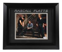 Gary LeVox, Jay DeMarcus & Joe Don Rooney Signed Rascall Flatts 14x17 Framed Photo Display (PSA LOA) (See Description) at PristineAuction.com