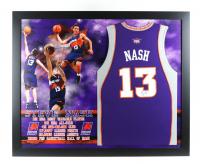 Steve Nash Signed 35.5x43.5 Custom Framed Jersey Display (JSA COA) at PristineAuction.com