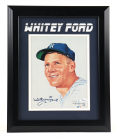 Whitey Ford Signed Yankees 13x17 Framed Photo Display (JSA COA) (See Description) at PristineAuction.com