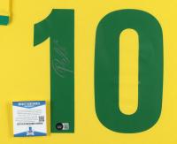 Pele Signed Team Brazil 34x42 Custom Framed Jersey Display (Beckett COA) at PristineAuction.com