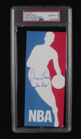 """Jerry West Signed NBA Logo Decal Sticker Inscribed """"The Logo"""" (PSA Encapsulated) at PristineAuction.com"""