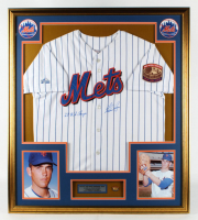 """Nolan Ryan Signed 32x36 Custom Framed Jersey Display Inscribed """"'69 W.S. Champs"""" with World Series Champions Pin (PSA COA) at PristineAuction.com"""
