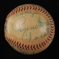 Vintage 1950 ONL Baseball Signed by (14) with Early Wynn, Rogers Hornsby, Al Lopez, Bob Boyd (Beckett LOA) at PristineAuction.com