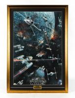 Star Wars 25x36 Custom Framed 1977 Original Promotion Poster Display at PristineAuction.com