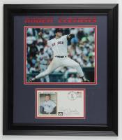 Roger Clemens Signed Red Sox 16x18 Custom Framed FDC Envelope Display (JSA COA) at PristineAuction.com
