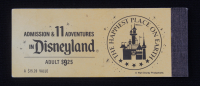 Vintage Disneyland Ticket Booklet with (7) A-E Tickets at PristineAuction.com