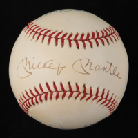 Yankees Greats OAL Baseball Signed by (5) with Mickey Mantle, Clete Boyer, Moose Skowron, Chris Chambliss (PSA LOA) at PristineAuction.com