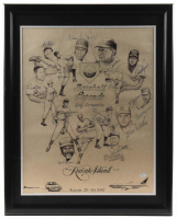 MLB Hall of Famers & Greats 24.5x30.5 Custom Framed Print Display Signed by (15) with Bob Feller, Eddie Mathews, Warren Spahn, Ernie Banks (JSA COA) at PristineAuction.com
