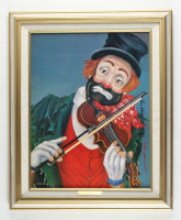 """Red Skeleton Signed LE """"Maestro"""" 18.5x22.5 Custom Framed Photo on Canvas Display (PA LOA) at PristineAuction.com"""