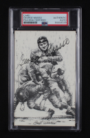 """George Musso Signed Bears 3.5x5.5 Photo Inscribed """"Best Wishes"""" (PSA Encapsulated) at PristineAuction.com"""
