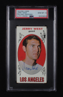 """Jerry West Signed 1969-70 Topps #90 Basketball Card Inscribed """"HOF 1980-2018"""" & """"The Logo"""" (PSA Encapsulated) at PristineAuction.com"""
