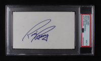 Rick Barry Signed 3x5 Cut (PSA Encapsulated) at PristineAuction.com
