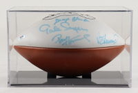 NFL Hall of Famers Signed NFL Logo Football with Display Case Signed By George Blanda, Gale Sayers, Paul Hornung & Jan Stenerud (PSA LOA) at PristineAuction.com