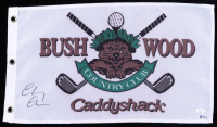 """Chevy Chase Signed """"Caddyshack"""" Bushwood Country Club Pin Flag (JSA COA & Beckett COA) (See Description) at PristineAuction.com"""