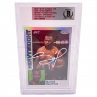 Francis Ngannou Signed 2019 Topps Chrome UFC 1984 Topps Inserts #84TFN (BGS Encapsulated) at PristineAuction.com