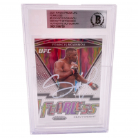 Francis Ngannou Signed 2021 Panini Prizm UFC Fearless #9 (BGS Encapsulated) at PristineAuction.com