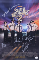 """""""Super Troopers 2"""" 12x18 Movie Poster Cast-Signed by (5) with Jay Chandrasekhar, Kevin Heffernan, Steve Lemme (JSA COA) (See Description) at PristineAuction.com"""