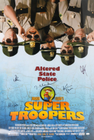 """""""Super Troopers"""" 27x40 Movie Poster Cast-Signed by (5) with Jay Chandrasekhar, Kevin Heffernan, Steve Lemme (JSA COA) (See Description) at PristineAuction.com"""