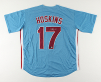 Rhys Hoskins Signed Phillies Jersey (Beckett COA) at PristineAuction.com