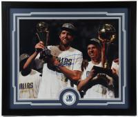 Dirk Nowitzki Signed Mavericks 22x26.25 Custom Framed Photo Display (PSA COA) at PristineAuction.com