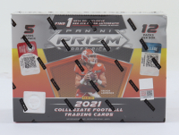 2021 Panini Prizm Draft Picks Football Mega Box with (12) Packs at PristineAuction.com