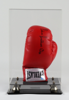 """Rubin """"Hurricane"""" Carter Signed Everlast Boxing Glove with Display Case (Super Star COA) (See Description) at PristineAuction.com"""
