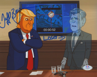 """Jeff Bergman Signed """"Our Cartoon President"""" 8x10 Photo Inscribed """"Loser"""" (PSA COA) at PristineAuction.com"""
