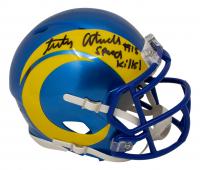 "Tutu Atwell Signed Rams Speed Mini Helmet Inscribed ""Speed Kills!"" (Beckett COA) at PristineAuction.com"