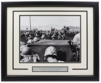 """""""D-Day at Normandy"""" 16x20 Custom Framed Photo Display at PristineAuction.com"""
