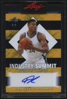 Giannis Antetokounmpo 2021 Leaf Industry Summit Autographs #ISA-GA1 - #1/1 at PristineAuction.com