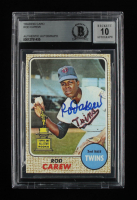 Rod Carew Signed 1968 Topps #80 (BGS Encapsulated) at PristineAuction.com