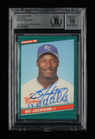 Bo Jackson Signed 1986 Donruss Rookies #38 RC (BGS Encapsulated) at PristineAuction.com