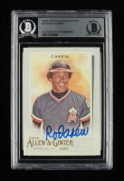 Rod Carew Signed 2020 Topps Allen and Ginter #10 (BGS Encapsulated) at PristineAuction.com