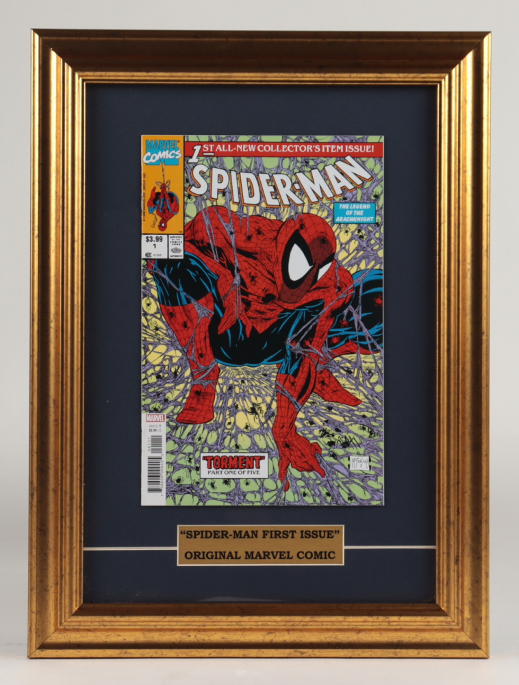 """Vintage 1990 """"The Amazing Spider-Man: Torment Part 1"""" 12.5x17 Custom Framed First Issue Marvel Comic Book at PristineAuction.com"""
