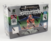 2021 Panini Prizm Draft Picks Football Mega Box (Gold Ice Prizms) with (12) Packs (See Description) at PristineAuction.com
