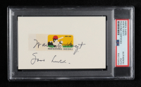 """Waite Hoyt Signed 3x5 Index Card Inscribed """"Good Luck"""" (PSA Encapsulated) at PristineAuction.com"""