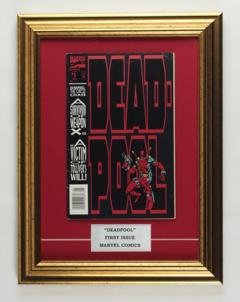 """1993 """"Deadpool"""" Issue #1 Marvel Comic Book 13x17 Custom Framed Display at PristineAuction.com"""