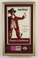Disneyland Pirates of the Caribbean 15x24 Custom Framed Photo Display With a Pocket Watch & Vintage Ticket Book at PristineAuction.com
