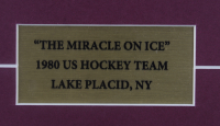 """1980 """"Miracle On Ice"""" 15x21 Custom Framed Photo Display With an Official 1980 Olympic Patch & (2) Olympic Pins at PristineAuction.com"""