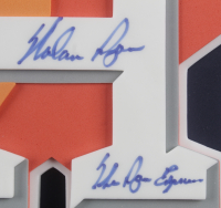 "Nolan Ryan Signed 19x27x2 Custom Framed Giant 3-D Astros Logo Shadowbox Display Inscribed ""The Ryan Express"" (PSA COA) at PristineAuction.com"