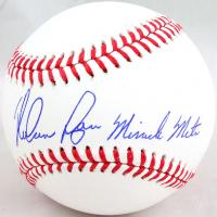 "Nolan Ryan Signed OML Baseball Inscribed ""Miracle Mets"" (AI Verified COA & Ryan Hologram) at PristineAuction.com"
