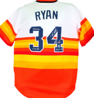 Nolan Ryan Signed Astros Jersey with Multiple Inscriptions (AIV COA & Ryan Hologram) at PristineAuction.com
